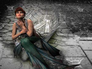 Meerjungfrau Kostuem Karneval